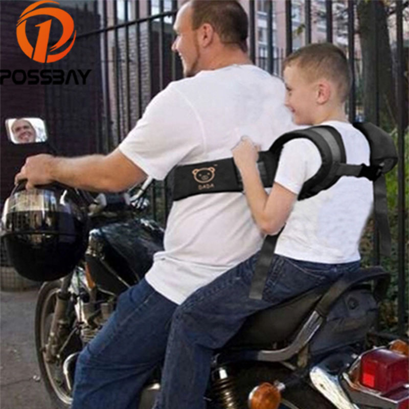 POSSBAY Motorcycle Electric Vehicle Seat Belt Motorcycle Safety Suspenders Accessories Safety Buckle Safety Harness Straps
