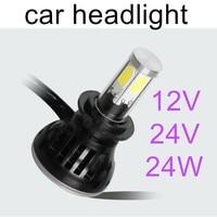 2pcs 880 881 H1 12V 24V Led Car Headlight 24w 2400lm Light Bulb replace Automobile Headlamp super bright