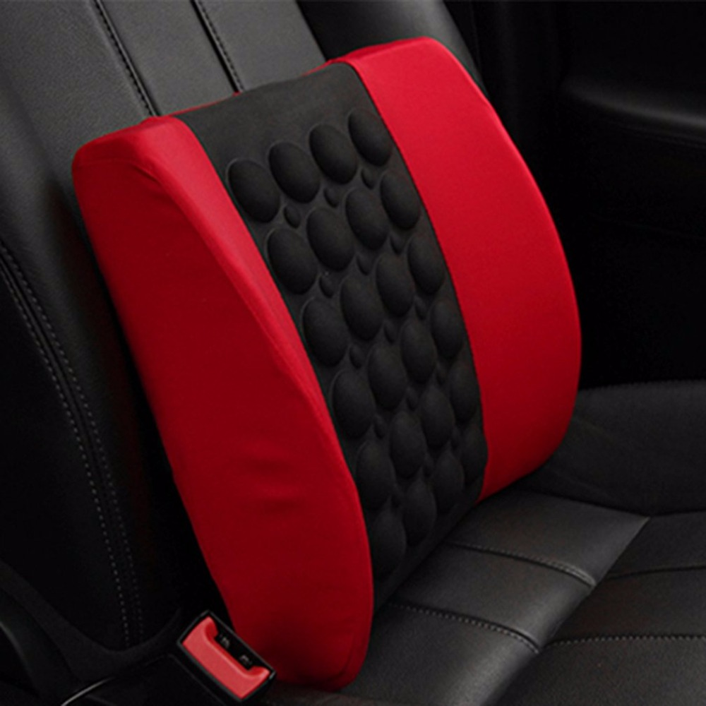 drop ship Electric Massage Car Seat Soft Sponge Waist Support Pillow Bone Stimulate the Circulation of Blood Cushion Car Styling