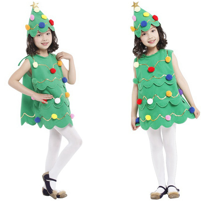 Christmas quality new children's performance clothing masquerade costumes Christmas costume children's Christmas tree dress role