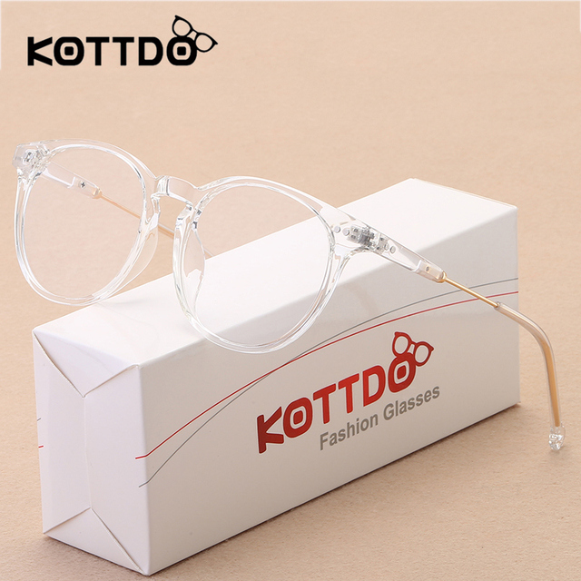 42023b87090ad KOTTDO Nowy Mody Retro Okrągłe Okulary Ramki dla Kobiet Krótkowzroczność Optyczny  Vintage Okulary Clear Lens Przezroczyste