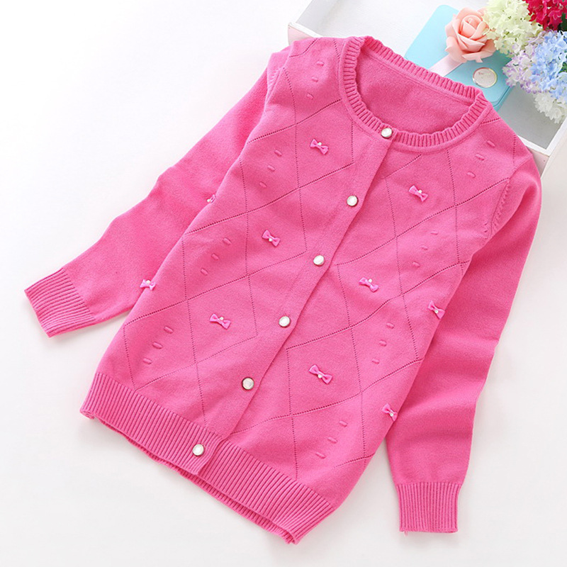 9c70be17a Spring Autumn Baby Girls School Basic Girl Sweater Cardigan Toddler ...