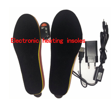 Heating Shoe-pad Battery Powered With Wireless Remote Type Black Memory Foam EUR 41-46# Cut to Fit