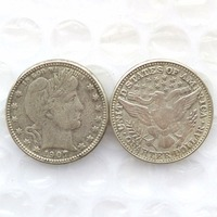 90 Silver 1907 Barber Quarter Dollars Retail Wholesale USA Copy Coins