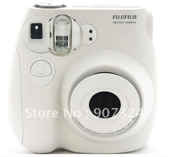 Free Shipping Original Fujifilm Instax instant mini7s camera  (white)+2packs films