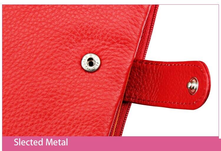 carteira de couro titular do Composição : Genuine Leather