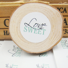300 Pcs Love is Sweet Self Adhesive Stickers white love Label Sticker Diameter 3cm For Diy Hand Made Gift Cake Candy Paper Tags