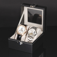 1Pc Factory Wholesale 2 Grid PU Leatherette Jewelry Watch Display Box Storage Collection Fashion Case
