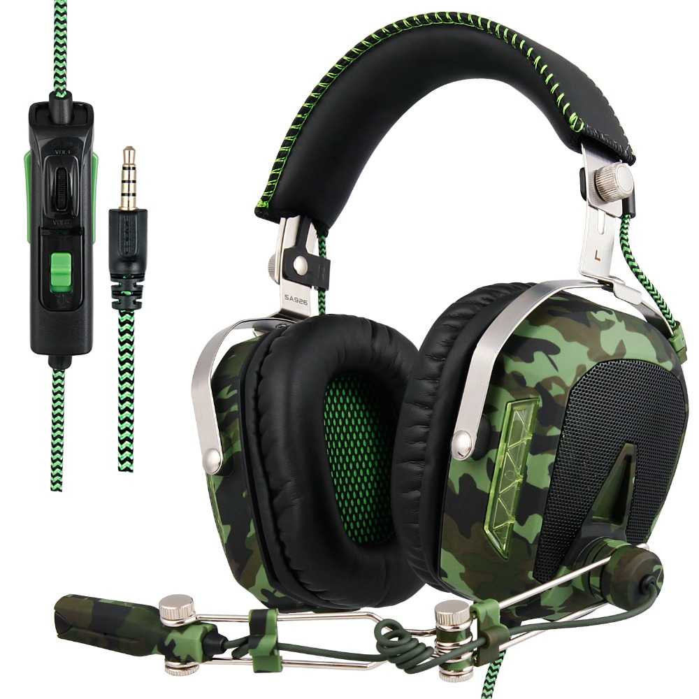 SADES SA926T PS4 Game Headset 3.5mm Wired Gaming Headphones With Microphone for Computer new Xbox One Mobile Phone Mac Laptop