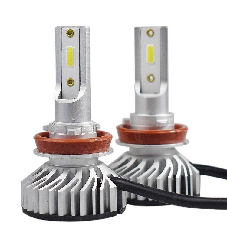 2 stücke Mini Größe H7 Led Canbus Birne 72 watt 10000LM Auto scheinwerfer H4 Hallo/Lo Strahl H1 LED h3 H9/H8 6000 karat 6000 KLed 24 v 12 v H11 Nebel Lichter