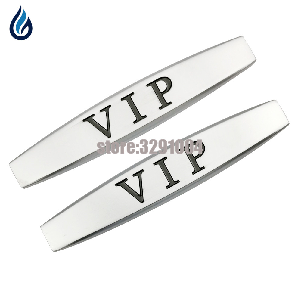 Car Sticker Emblem For VIP Logo Alfa Romeo 147 Seat Leon Abarth Smart Fortwo Toyota Chr Audi A6 Car Fender Side Decoration Decal blades for alfa romeo 147 22