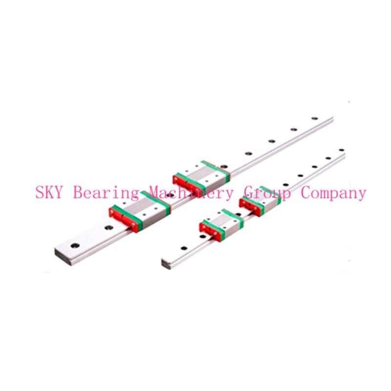 ФОТО NEW 15mm miniature linear guide MGN15 L= 350mm rail + 2pcs MGN15H CNC block for 3D printer parts XYZ cnc parts