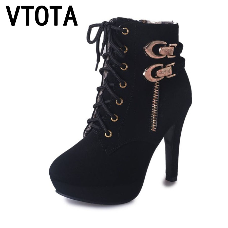 VTOTA Martin Boots Women Fashion Women Boots Thick With Ankle Boots Shoes Woman botas mujer Platform Ankle Boots For Women D2 short boots woman the fall of 2017 a new restoring ancient ways british wind thick boots bottom students with martin boots
