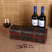Luxury Wooden Red Wine Gift Box Vinho Packaging Gifts Jewely Treasure Boxes Storage Container Gift Bar