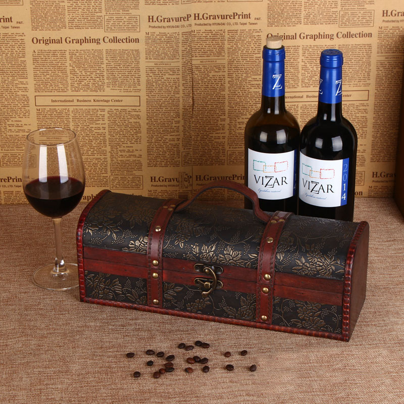 de lujo de madera caja de regalo vino tinto vinho embalaje regalos jewely accesorios za tesoro