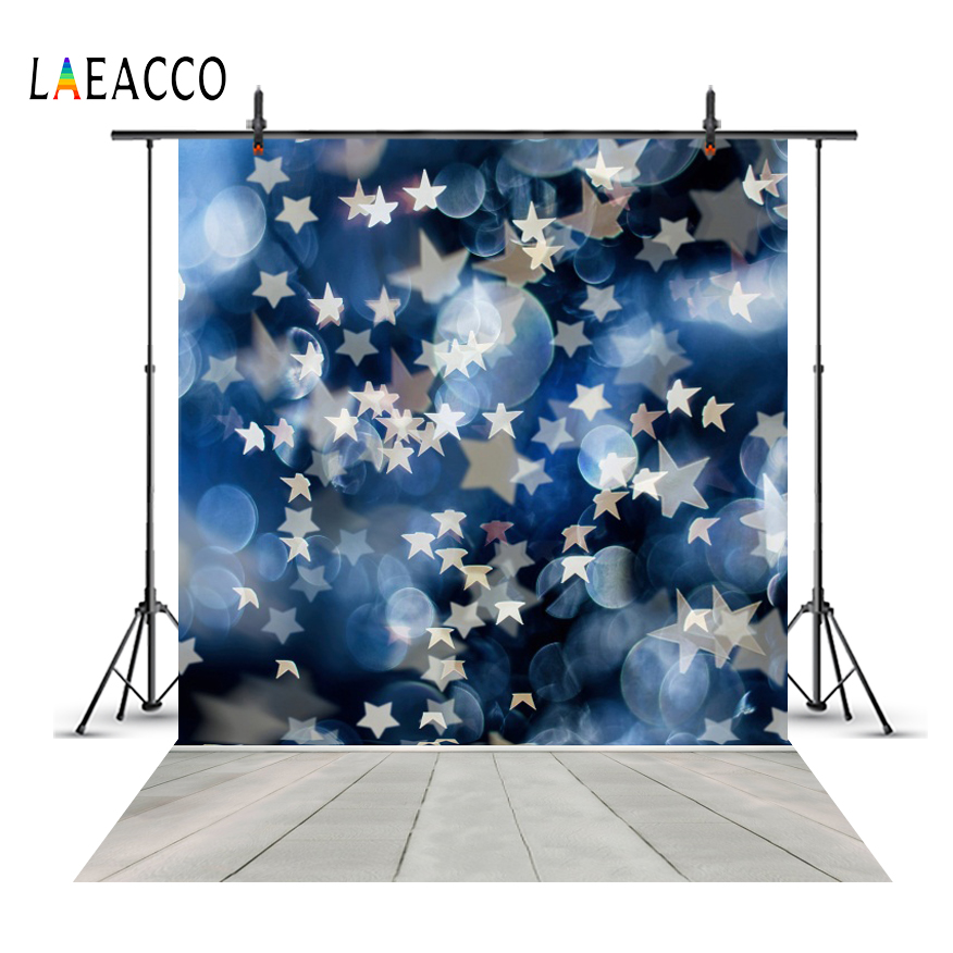 Laeacco Star Light Bokeh Wall Wooden Floor Baby Party Photography Backgrounds Customized Photographic Backdrops For Photo Studio in Background from Consumer Electronics