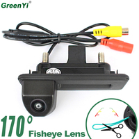 GreenYi 170 Degree Fisheye Lens Vehicle Rear View Camera For Skoda Roomster Fabia Octavia Yeti Audi Car Reverse Backup Camera