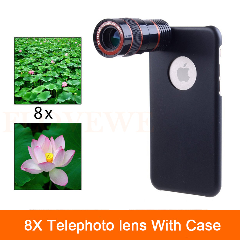 High Quality 8x Optical Zoom Lens Telescope Clips Camera Lentes Phone Cases For Samsung Galaxy S3 S4 S5 S6 S7 edge note 2 3 4 5