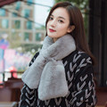 SCM047 Rex rabbit fur scarf snood Korea fashion real fur neck warmer scarf wrap cape shawl stole poncho cape 103*16cm