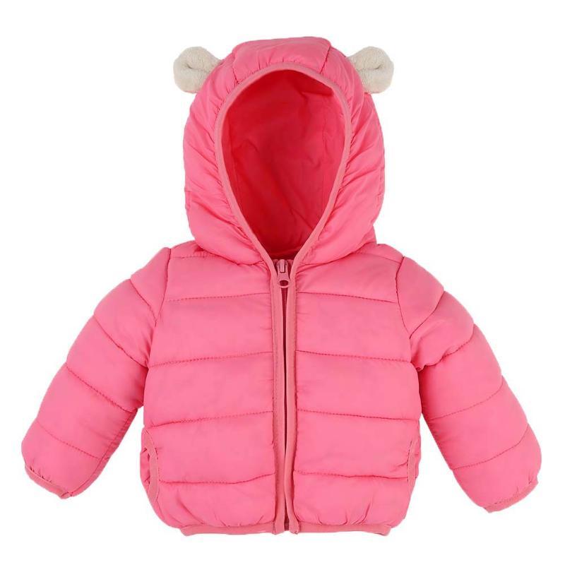 Обувь для мальчиков Обувь для девочек Зимняя одежда куртка с капюшоном с кошачьими ушками с капюшоном Подпушка пальто розовая верхняя одеж...