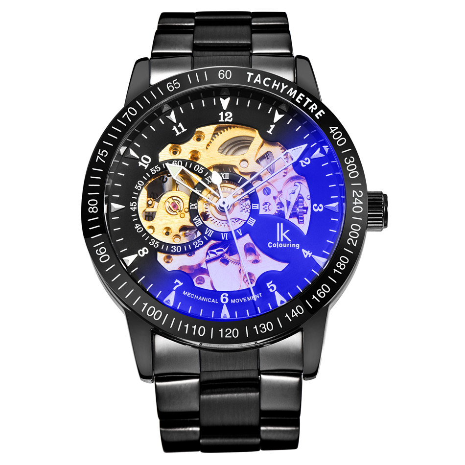 IK Coloring Mens Watches Men\'s See Through Auto Mechanical ...