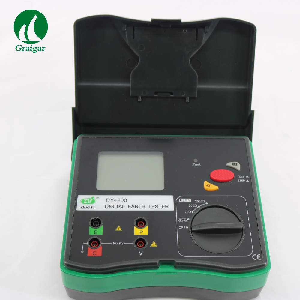 Digital DY4200 Ground Resistance Tester Complete with Test Leads Auxiliary Earth BarsDigital DY4200 Ground Resistance Tester Complete with Test Leads Auxiliary Earth Bars
