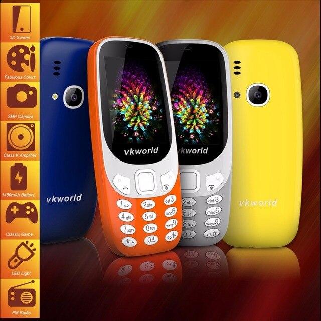 Оригинальный vkworld Z3310 старший телефон 2.4 дюймов 3D Экран 1450 мАч Батарея класса k Усилитель Dual SIM fm-факел Bluetooth