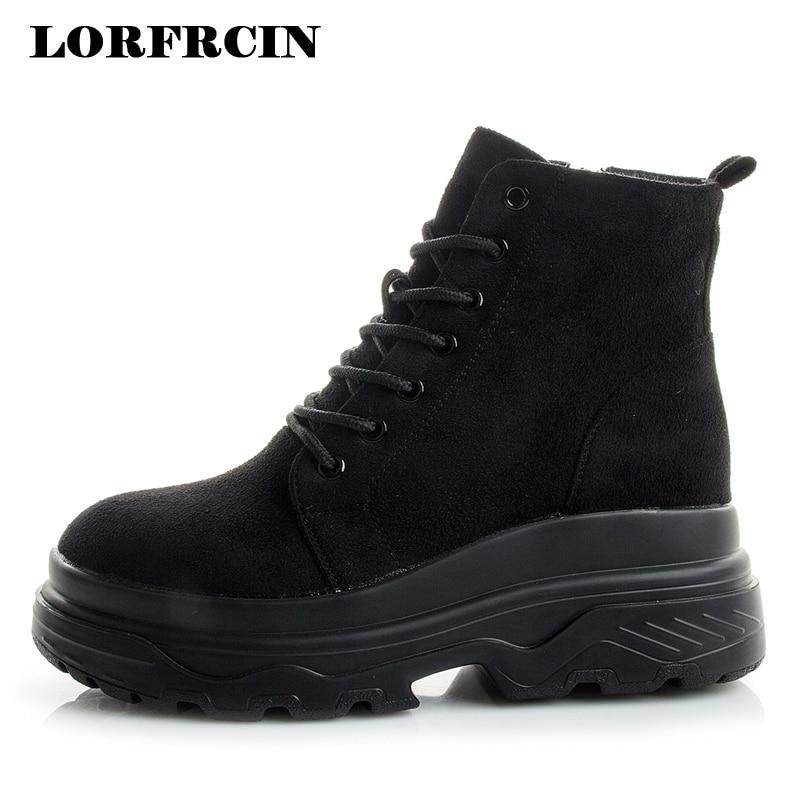 Automne hiver bottes femmes plate-forme chaussures en cuir véritable haut Designer Chunky baskets chaussures femme décontractées bottines 2018