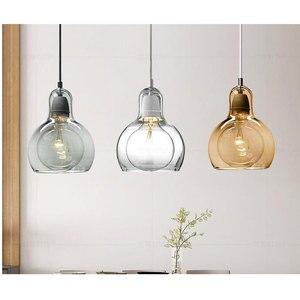 Image 2 - Современный Креативный простой подвесной светильник для столовой, магазина одежды, стеклянная Подвесная лампа в цветочек, E27, декоративная светильник ПА накаливания
