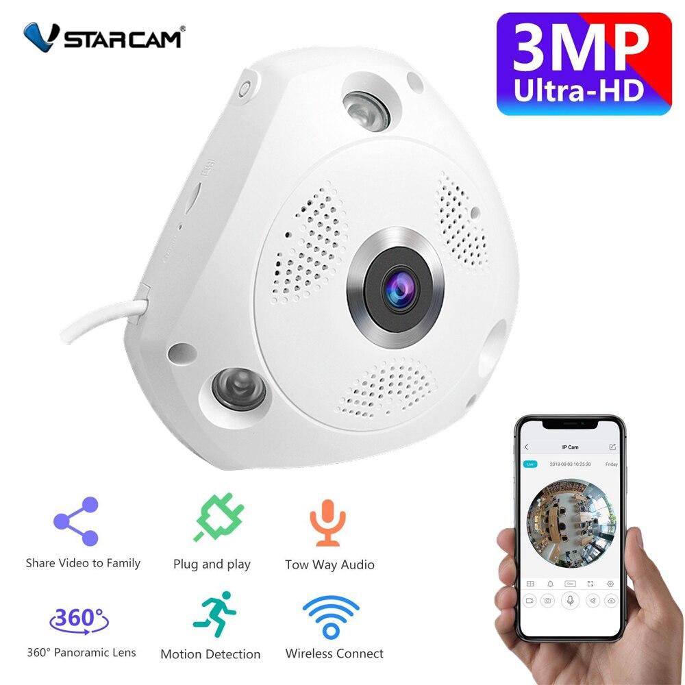Vstarcam Wireless IP Camera Wifi 3MP Panoramic Home Security CCTV Camera 360 Degree Night Vision Two