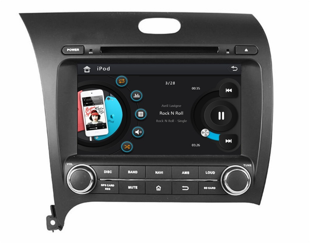 HD 2 din 8″ Car DVD Player for Kia CERATO K3 FORTE 2013 2014 With Radio GPS Navigation Bluetooth IPOD TV SWC AUX IN USB