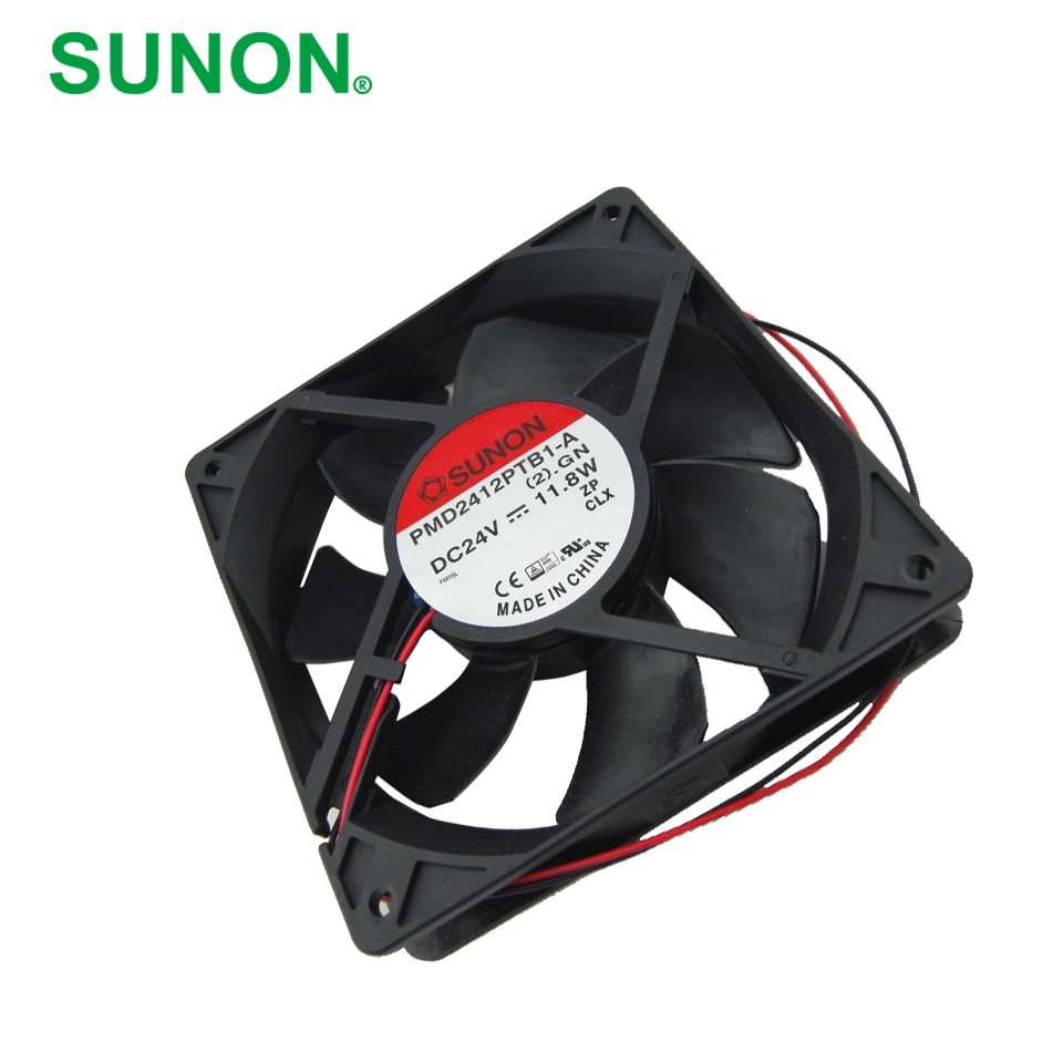 SUNON New original inverter cooling fan PMD2412PTB1-A (2). GN 24V axial fan 120*120*25mm new and original qfr1224ehe 12038 12cm 24v 0 75a wind capacity inverter fan for delta 120 120 38mm