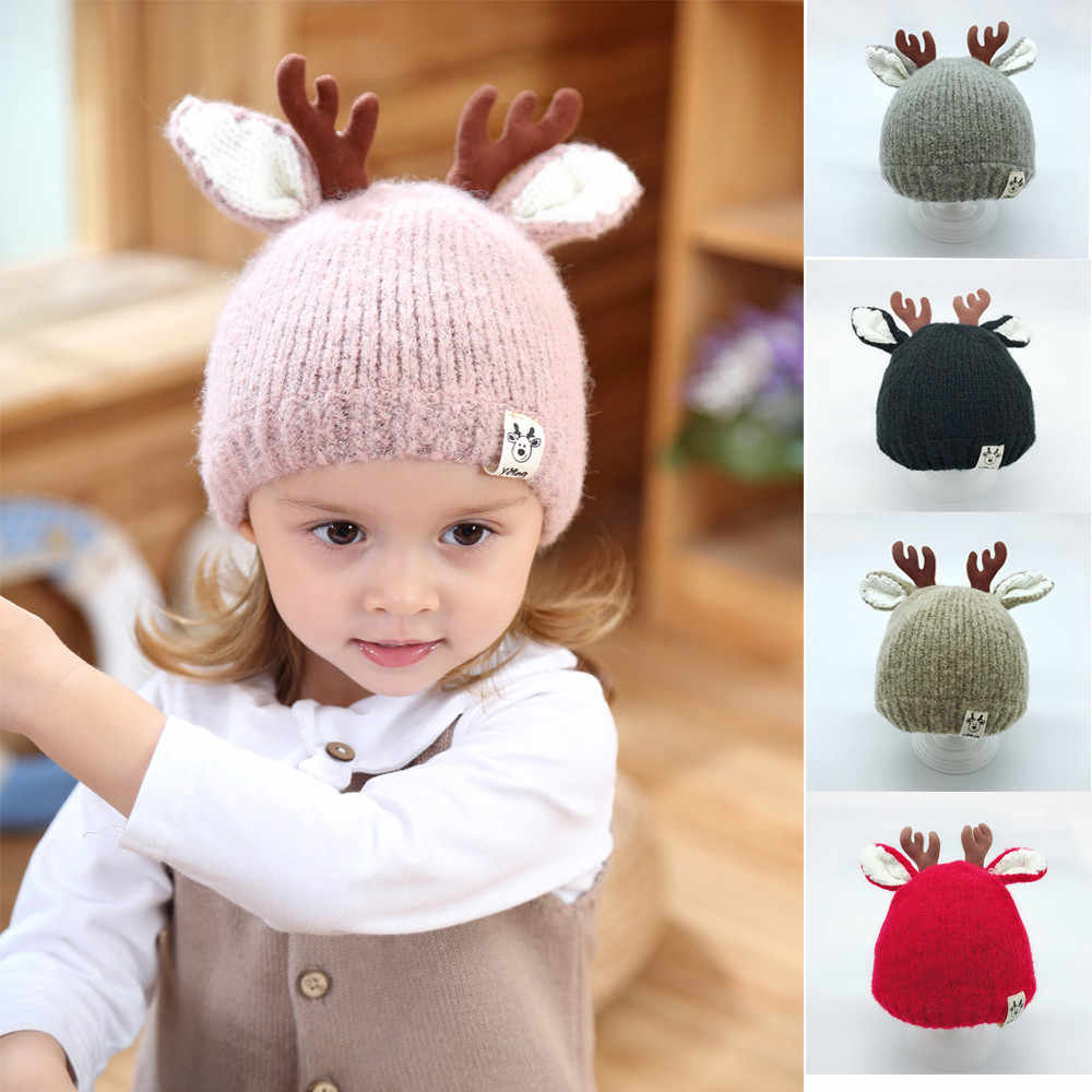 Detail Feedback Questions about 1PC Children baby hat Boys Girls Cap Elk  Ears Warm Winter Beanie Knit Cute Baby Hat Children s Hat For Kids  Dropshipping ... e5644eadc65