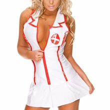 BONJEAN 2017 Sexy Lingerie Roleplay Fancy Hot Bedroom Nurse Costume Nurse Outfit Dress& Hat Sexy Costumes Fashion Clothing
