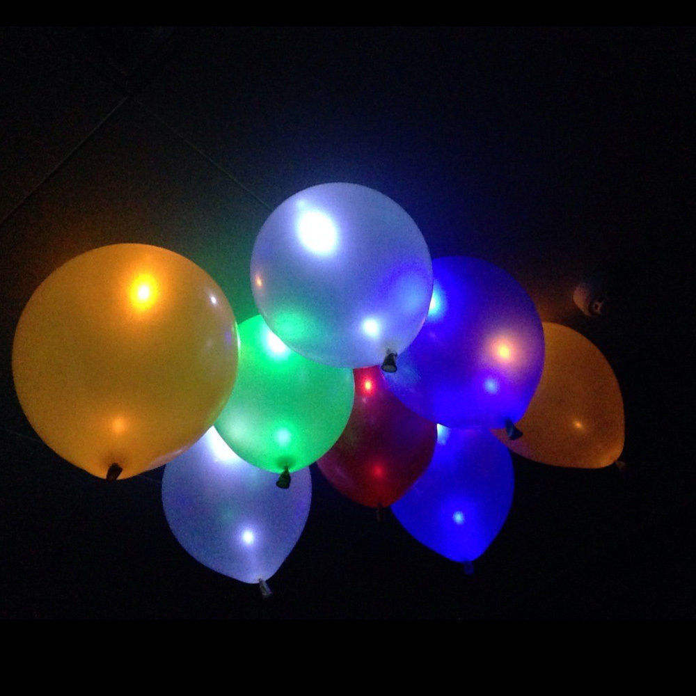 100pcs Led Flash Balloons Illuminated LED Balloon Glow In The Dark Sky Lanterns Happy Birthday Decoration Globos Party Baloons