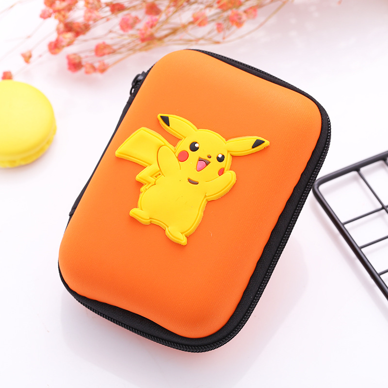 Lovely Silicone Coin Purse Anime Cartoon Pokemon Pikachu Coin Key Wallets Rectangle Earphone Holder Bags Gift Kids Cute Wallet women s cute 3d dog nylon corduroy coin purse key earphone storage bags wallet