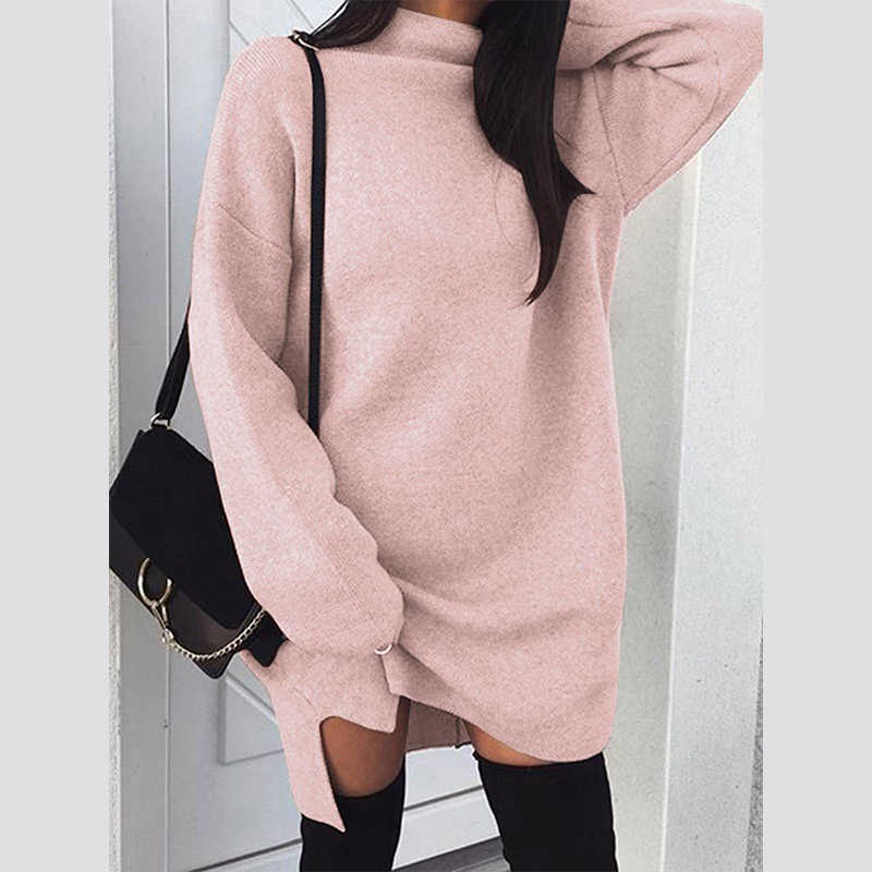 ... 2018 Fashion Winter Women Sweaters Long Sleeve Female Tops Plus Size  Pullover Knit Pull Femme Hiver ... 083a71d95dae