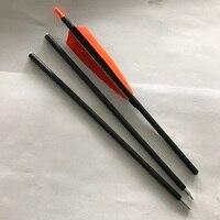 12 pz 3 Prendere Giù Frecce Frecce In Carbonio Della Colonna Vertebrale 500 Puro 30