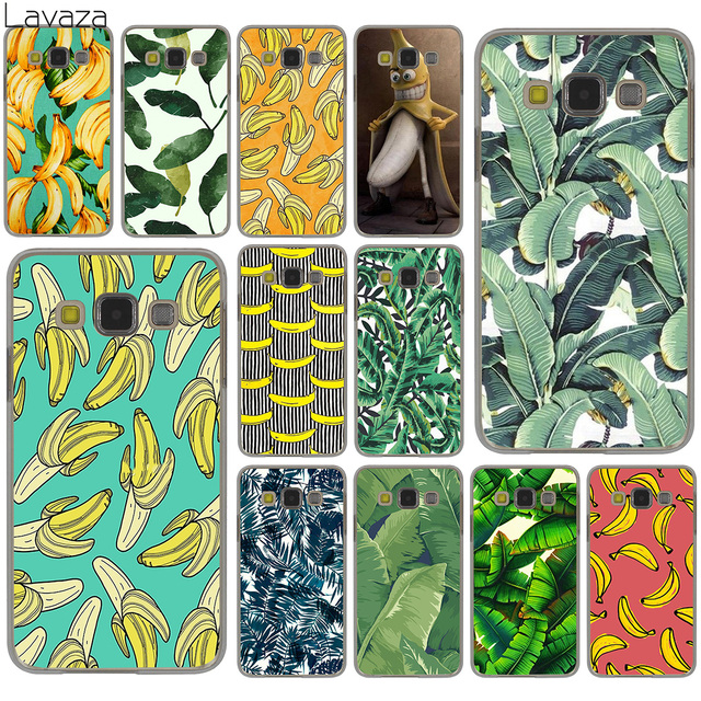 Lavaza banana leaf pattern Tropical Leaves Fruit Hard Case for Samsung Galaxy S10 S10E S8 Plus S6 S7 Edge S9 Plus Cover