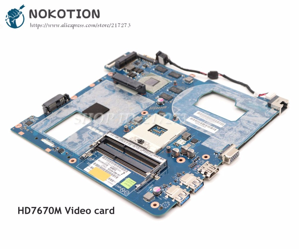 NOKOTION QCLA4 LA-8861P MAIN BOARD For Samsung NP350 NP350V5C 350V5X Laptop Motherboard BA59-03397A DDR3 HD7670M Video Card