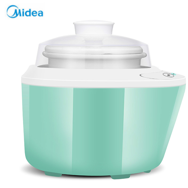 Midea Electric Slow Cooker White Porcelain Yogurt Bird's Nest Stew the gourmet slow cooker