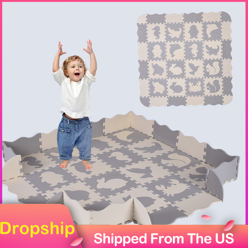 EVA 36 pièces bébé mousse tapis de jeu bébé Puzzle tapis de sol clôtures tapis Pad jouets pour enfants éducation et carreaux de verrouillage
