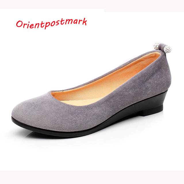 Women Shoes Women Ballet Flats Shoes for Work Women's Pregnant Flat Shoes Oversize Boat Shoes Cloth Flats Sweet Loafers Slip On