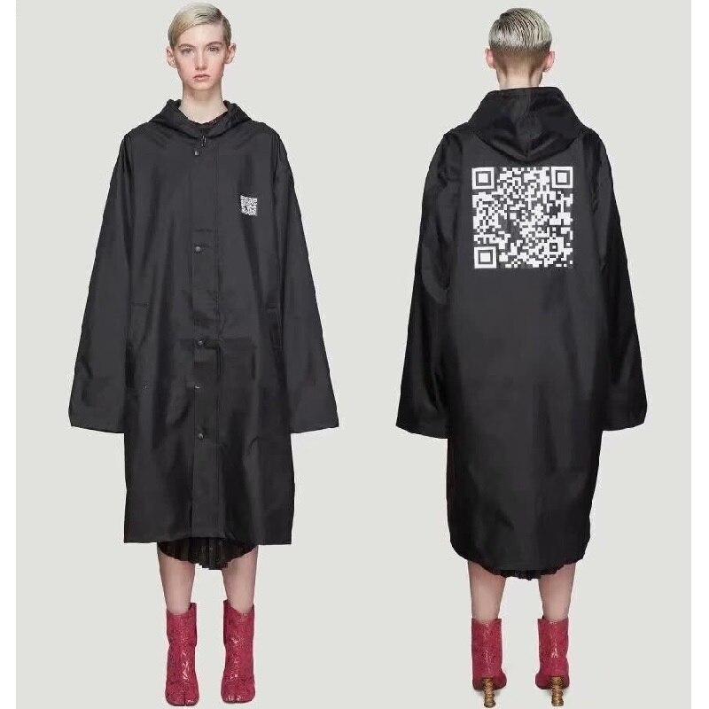 19ss Vetements Vestes Hommes Femmes Surdimensionné Imperméable Streetwear Manteaux Imperméable Coupe-Vent De Mode Bomber Vetements Veste