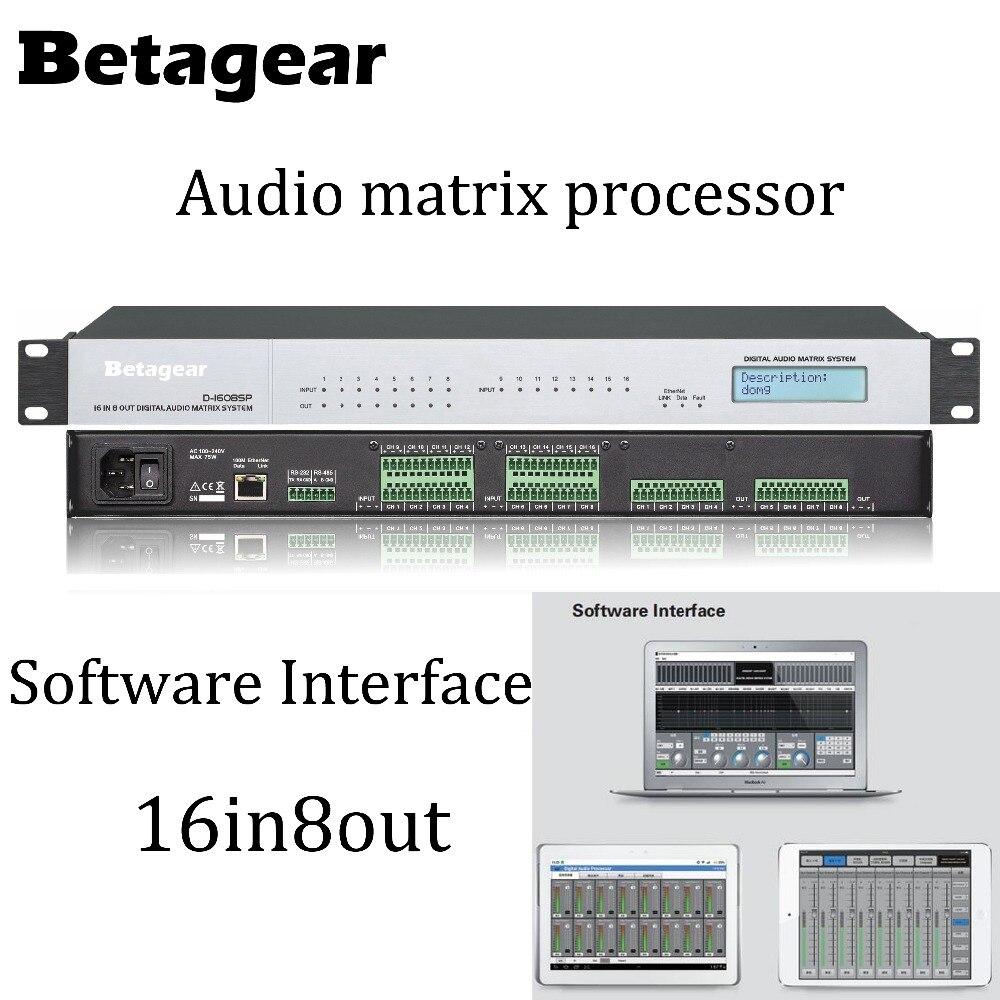Processeur matriciel Audio Betagear DSP 16 entrées 8 sorties processeur de son numérique processeur matriciel dsp premium processeurs audio