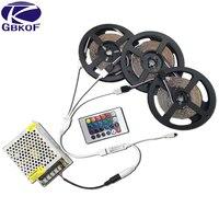 SMD3528 RGB Светодиодные ленты Водонепроницаемые водонепроницаемый 5/10/15/20 м светодио дный лента диод лента с 24Key ИК-пульт + питание от напряжения ...