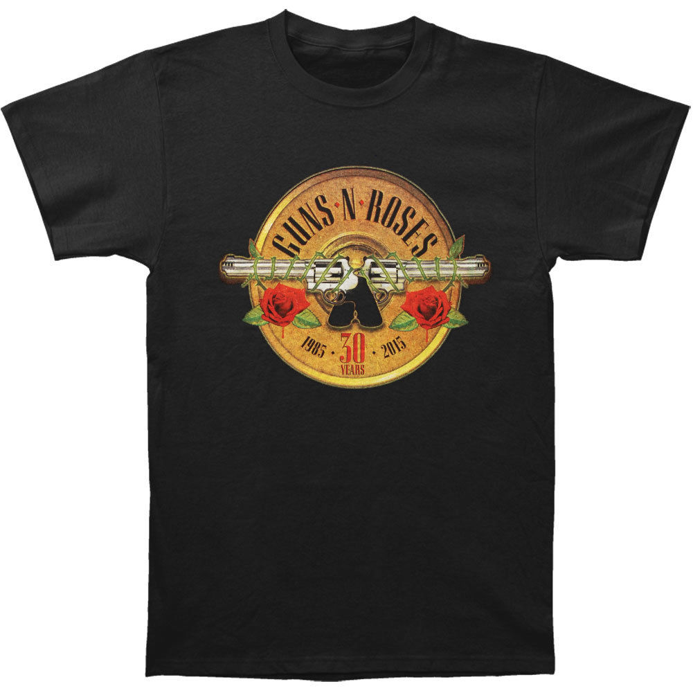 Guns N Roses Mens 30th Photo Logo T-shirt Black