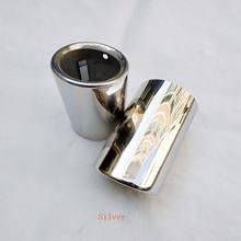 2 шт глушитель выхлопной трубы из нержавеющей стали для audi