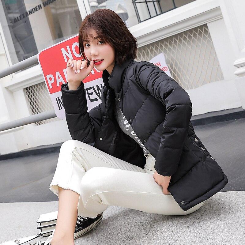 7e7144df8ba2c Veste coréen Mujer Manteau Mince Baseball army Femelle Femmes Parka Nouvelle  Green Courte blanc Casual Section Noir orangered 2018 Uniforme ...