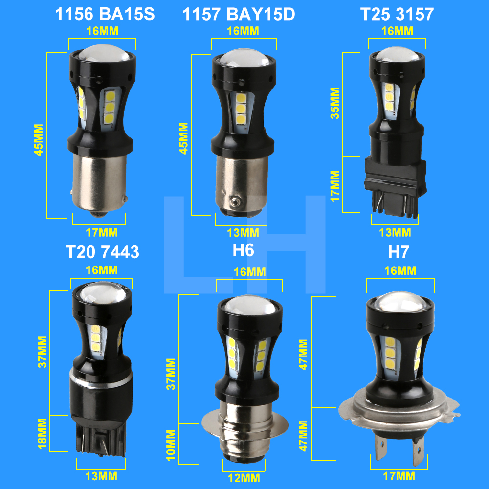 2x   LED Car led Bulb  Tail Signal smd H4 H8 H11 9005  9006 3157  7443 1156 1157 White DRL Light 5W 3030 18 led 1 x t25 3157 50w led car auto signal brake stop tail light bulb signal lamp white external lights